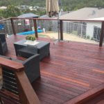 new timber pool deck