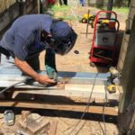 welding for retaining wall repair