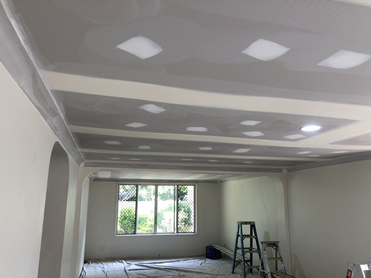 patched plaster cieling